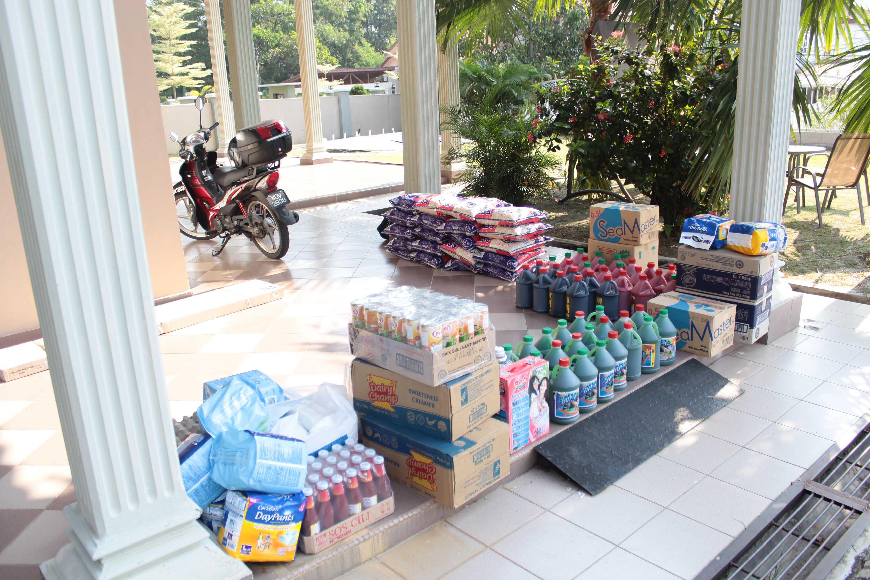 Antara barang-barang keperluan asas kepada Pusat jagaan tersebut
