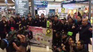 Kata kata semangat para sukarelawan yang berangkat ke United Kingdom petang tadi bagi misi kemanusia